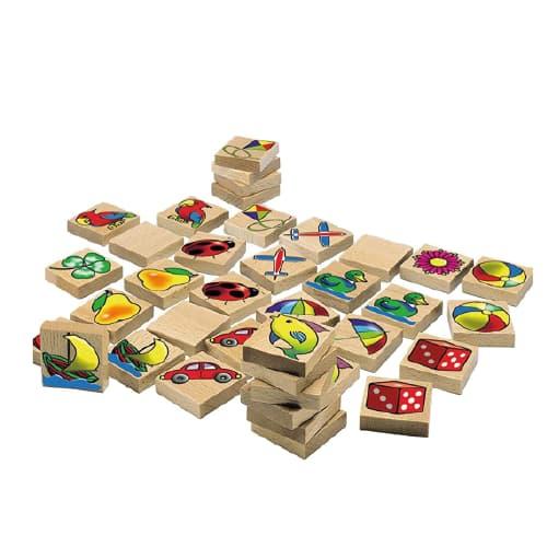 juego de memoria madera