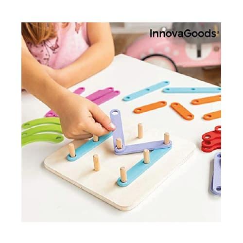 juego madera letras y números